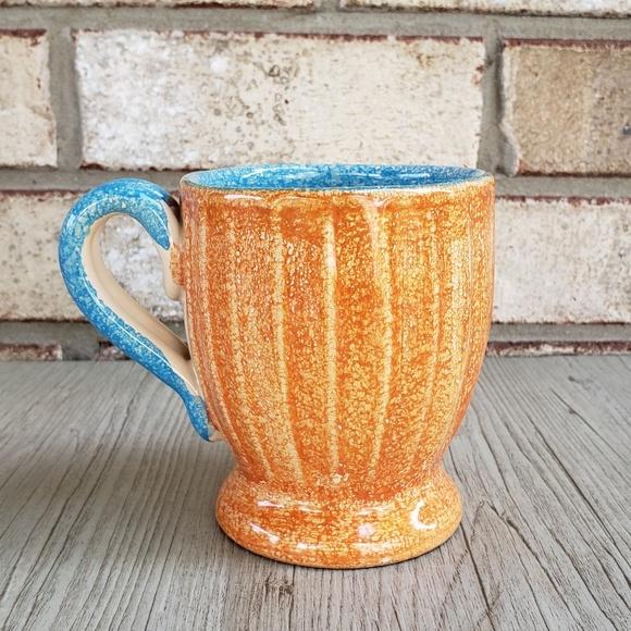 Vintage Other - Vintage Orange & Blue Mug AS-IS